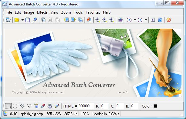 View edit print and convert your digital images (in Batch mode too.) wonderful Screen Shot